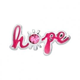 Floating locket - charm Hope