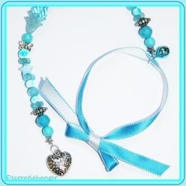 Decoratiehanger blauw