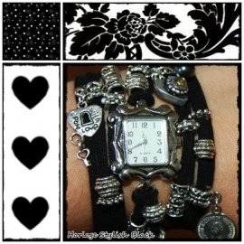 Horloge Stylish Black 2