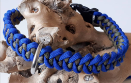Halsband Dog Camo / Electric blue