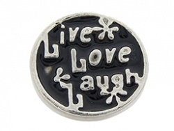 Floating locket - charm Live Laugh Love