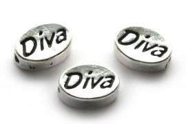Metalen kraal DIVA
