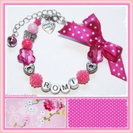 Naamarmband All Pink!