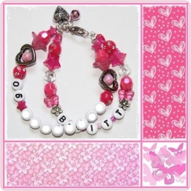 SOS armband Pink