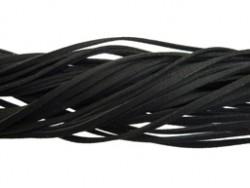 Suede veter zwart - per meter
