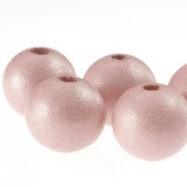 Houten kraal Ibiza Pink 12 mm. - per 10 stuks