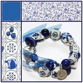 Mama armband Delftsblauw