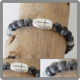 Armband Cross - black/grey