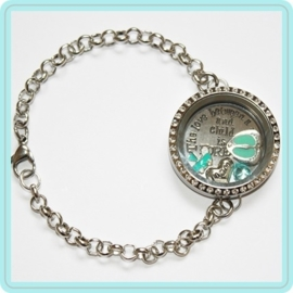 "Floating locket - armband ""It's a boy!"""