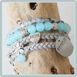 Mama armband set Mom - met naambedel