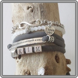 Mama armband set I love you – met letterkralen