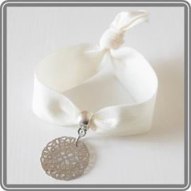 Elastieken armband - wit
