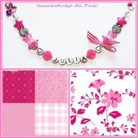 Naamketting All Pink!