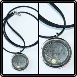 Floating locket - ketting suedine