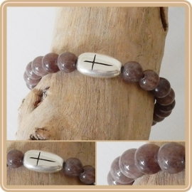 Armband Cross - brown