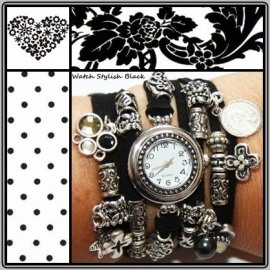 Horloge Stylish Black 1