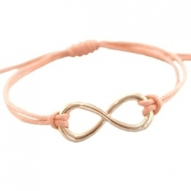 Armbandje infinity - tropical peach