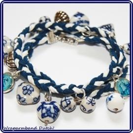 Wikkelarmband Delftsblauw