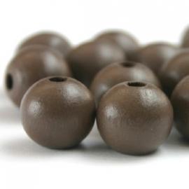 Houten kraal bruin 12 mm. - per 10 stuks