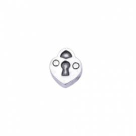 Floating locket - charm Hartje slot
