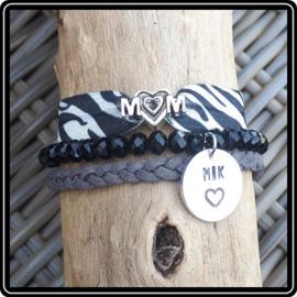 Mama armband - set Zebra
