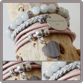 Mama armband set - met naambedel
