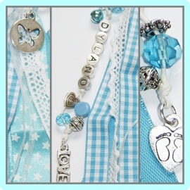 Geboortehanger Baby blue