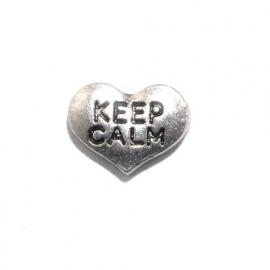 Floating locket - charm Keep calm
