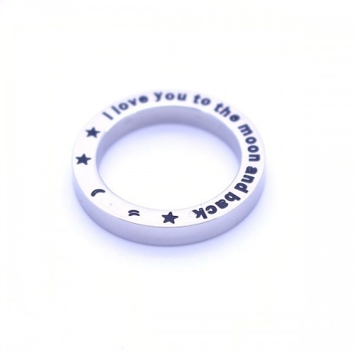 Floating locket ring - I love you to the moon and back