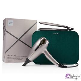 Ghd Platinum Styler +  & Helios Haardroger - Luxe Cadeauset - Warm Pewter
