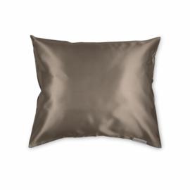 Beauty Pillow - Satijnen Kussensloop - Taupe - 60x70
