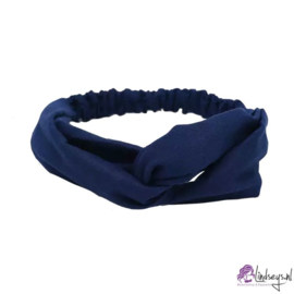Cross Haarband Velours Donker Blauw
