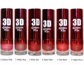W7 3D Glitter Kiss Lipstick - Lippenstift