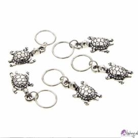 Haarsieraad Schildpad -  set zilver 5 stuks