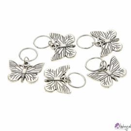 Haarsieraad vlinder -  set zilver 5 stuks