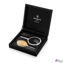 Balmain Limited Edition Silver Spa Brush Hand Mirror