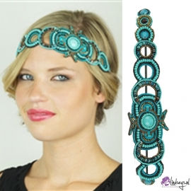 Pink Pewter Helena Turquoise Haarband