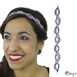 Pink Pewter Addy Fuchsia Choker - Haarband