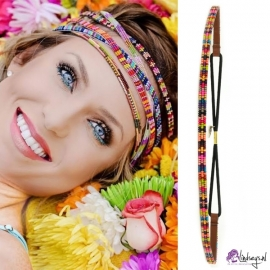 "Pink Pewter ""Brie #3""-Rainbow Haarband"