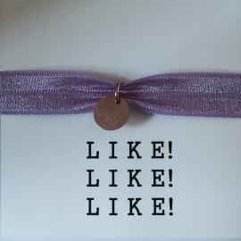 LIKE! armband pastel paars