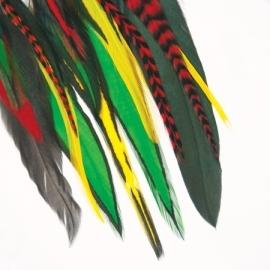 Fine Featherhead Drops rasta