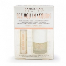 Kardashian Beauty See You In Sequins Lipgloss & Nagellak Crystel