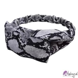 Cross Haarband - Zwart - Wit met print