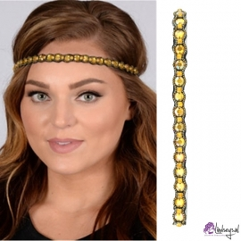 Pink Pewter Lena Yellow Haarband