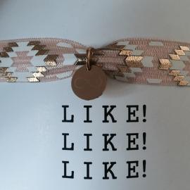 LIKE! armband pastel roze