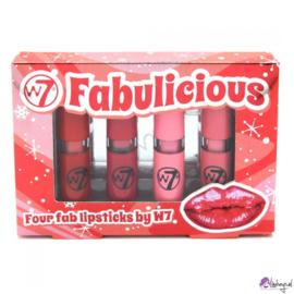 W7 Fabulicious lipstck set