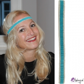 Pink Pewter Winnie Turquoise Haarband