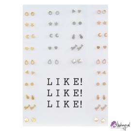 Like! Like! Like! Oorbellen