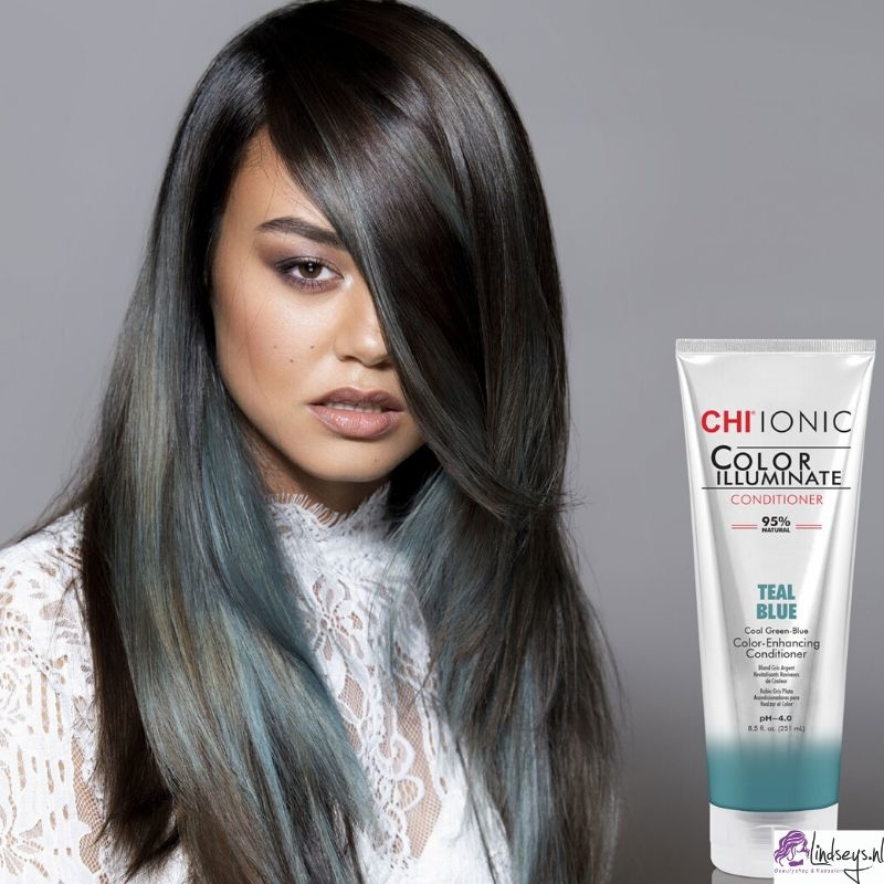 CHI Ionic Color Illuminate Conditioner - Teal Blue