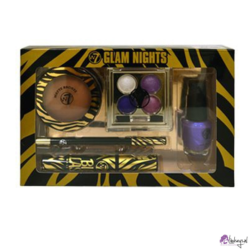 W7 Glam Nights Gifset - 5 Cosmetica Producten